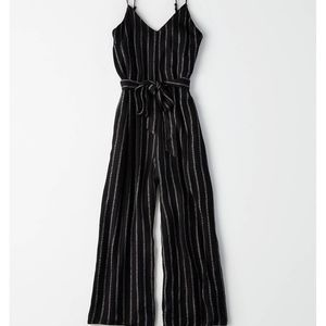 American Eagle Outfitters Easy Striped Jumpsuit